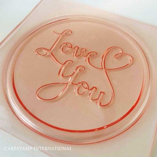 LOVE YOU טופר עגול לקישוט מארזי אהבה ויומולדת | טופר יום הולדת | זוג LOVE חדש מאתי דבש