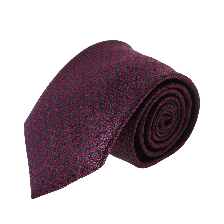 עניבה קלאסית ריבועים כחול אדום