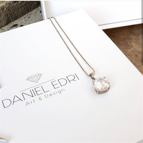 שרשרת אבן שקופה- שרשרת יהלום (דמוי)