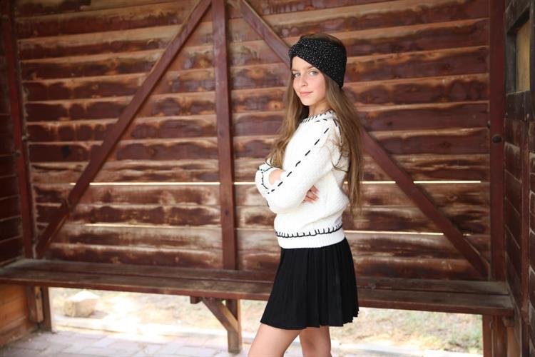 חצאית סריג פליסה