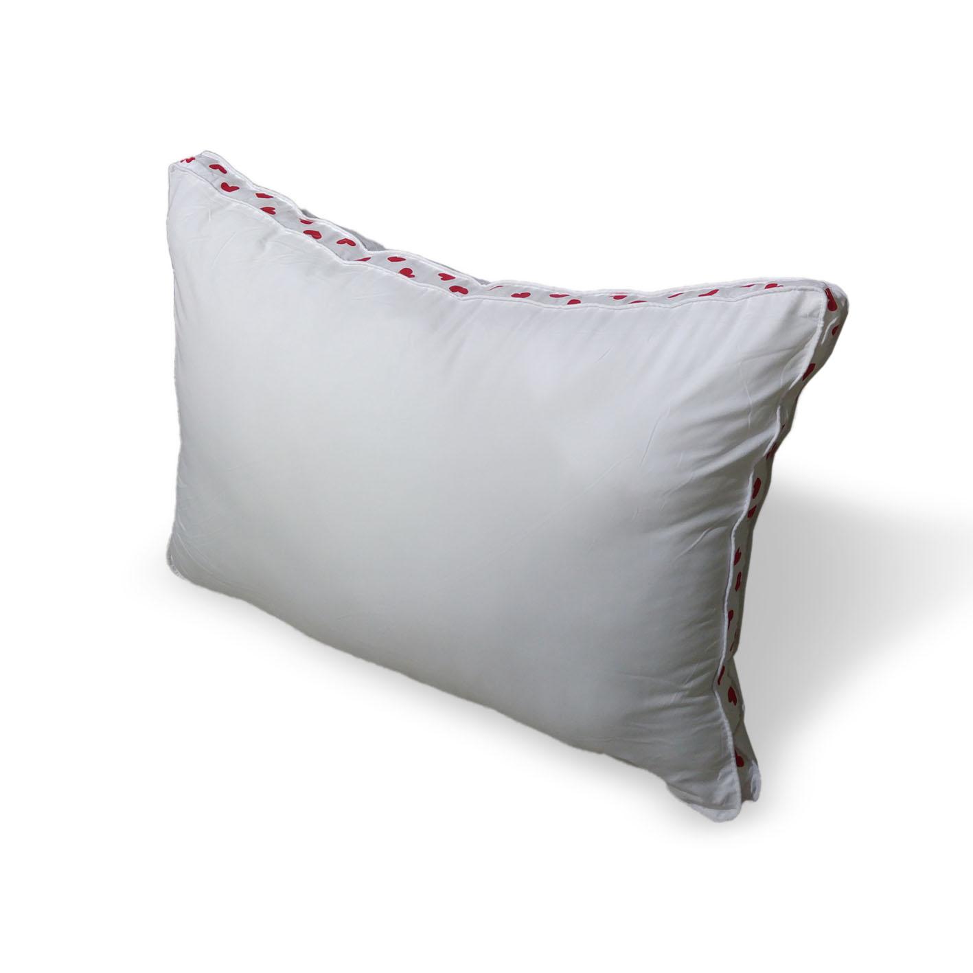 כרית שינה מפנקת ונעימה דגם לבבות