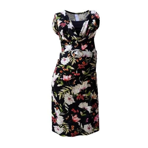 שמלת הריון רבידה שרוול קצר NursingAnywear