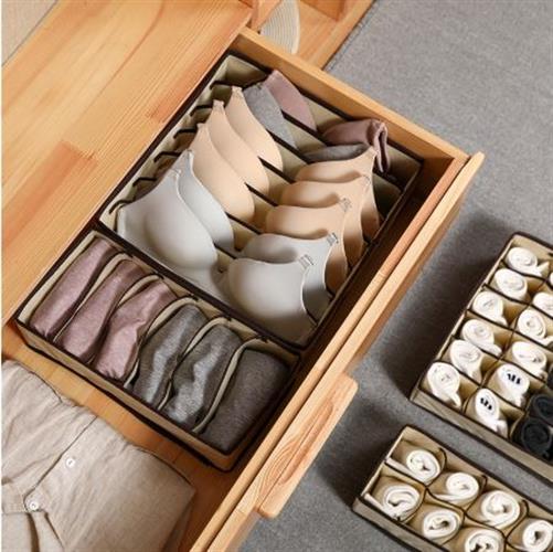 סט 4 ארגוניות אחסון למגירת הבגדים