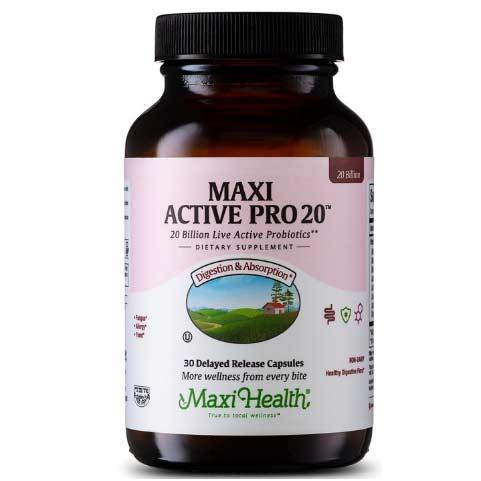 -- Maxi Active Pro 20™ פרוביוטיקה -- 30 כמוסות, 20 ביליון חיידקים, Maxi Health