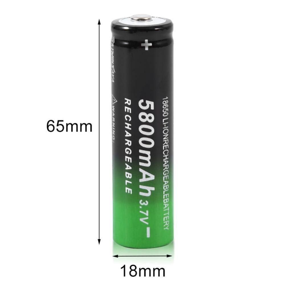סוללה נטענת איכותית ביותר 3.7v 5800mAh 18650 Li-ion
