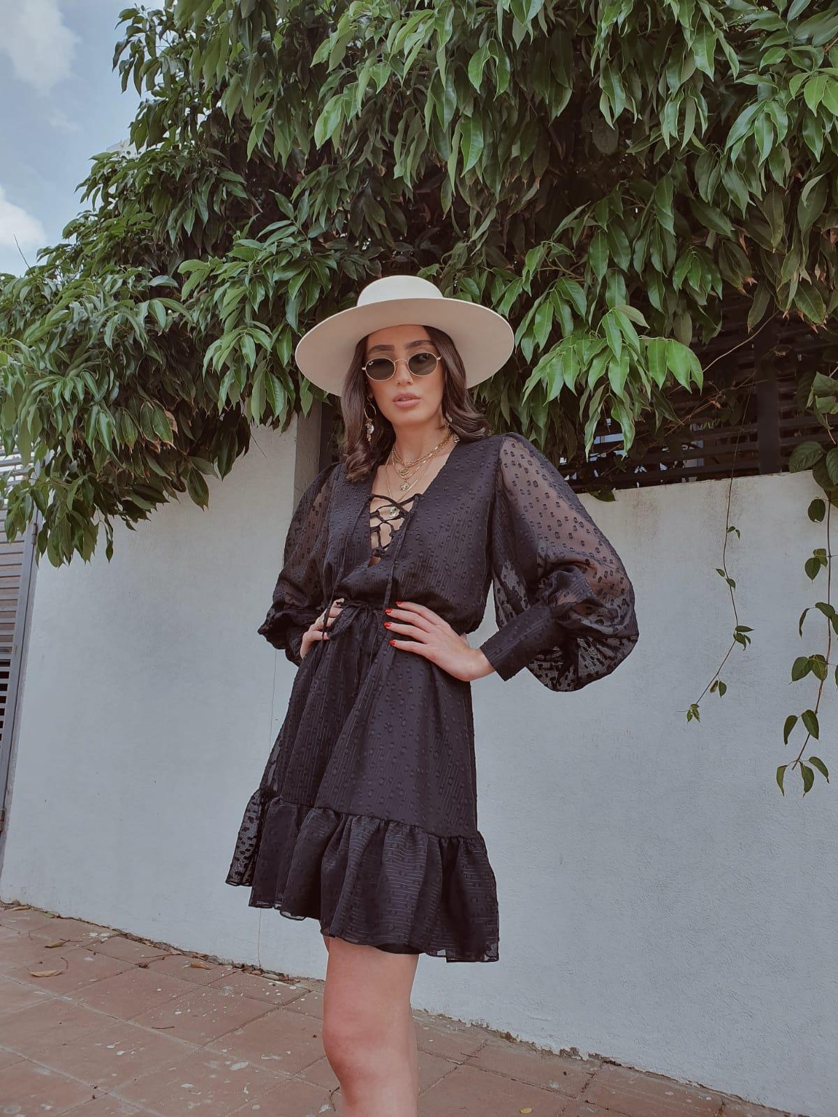 שמלת סוזן - שחורה