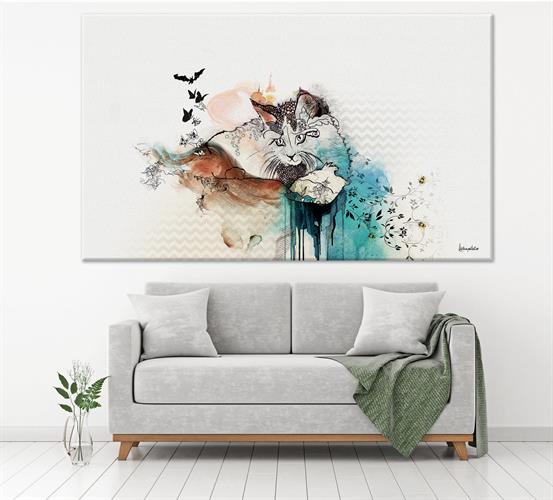 ציור של חתול
