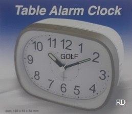 שעון מעורר צלצול פעמון גולף GOLF מנגנון שקט נודניק תאורה