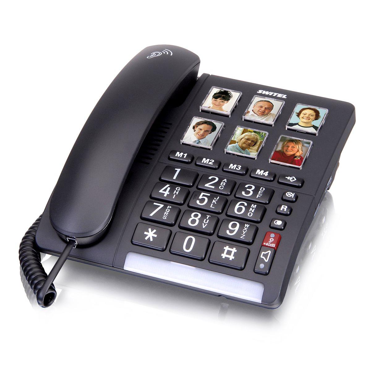 טלפון נייח עם צלצול מוגבר ולחצני תמונות TF540