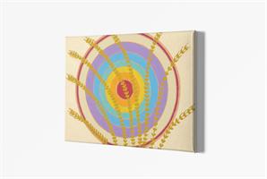 מנדלת שגשוג - מנדלה מקורית בעבודת יד מודפסת על בד קנבס