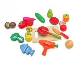 W10B224 - סט חיתוך ירקות מעץ לילדים, קפיץ קפוץ
