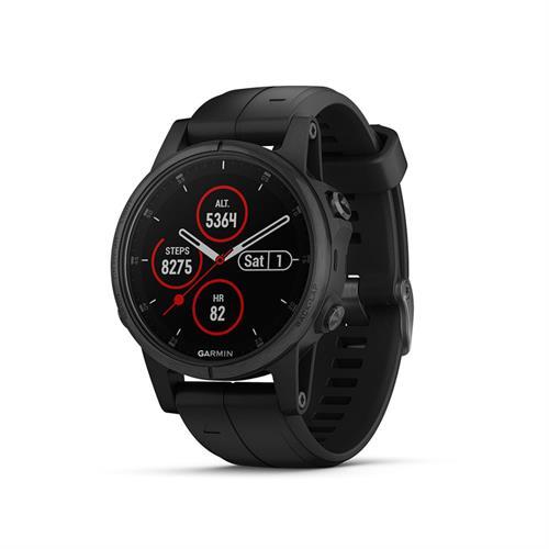 שעון דופק גרמין Garmin Fenix 5s Plus Sapphire Black