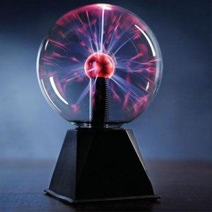 מנורת ברקים- כדור פלזמה  זרמים חשמלי גדול