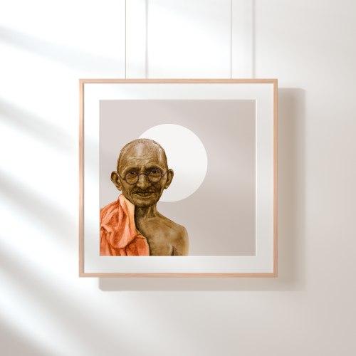 גנדי-הדפס ציור