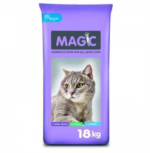 """אוכל לחתולים 18 ק""""ג Magic"""