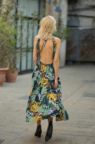 שמלת מקסי קולר סיישל