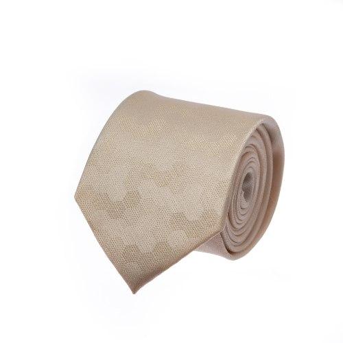 עניבה קרם דגם משושה