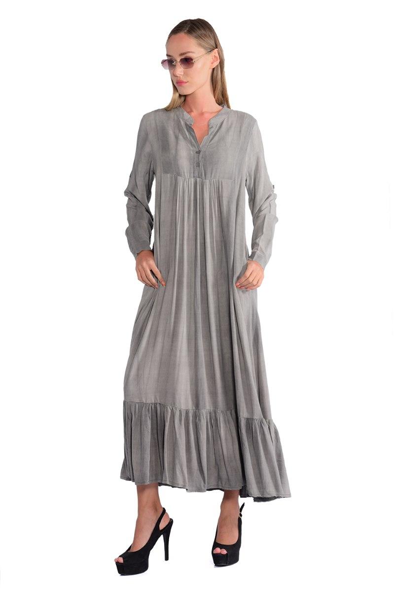 שמלה מלינה אפור בהיר