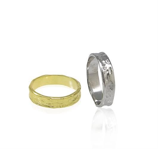 סט טבעות נישואין לגבר ולאשה בזהב 14 קרט- דגם WR648