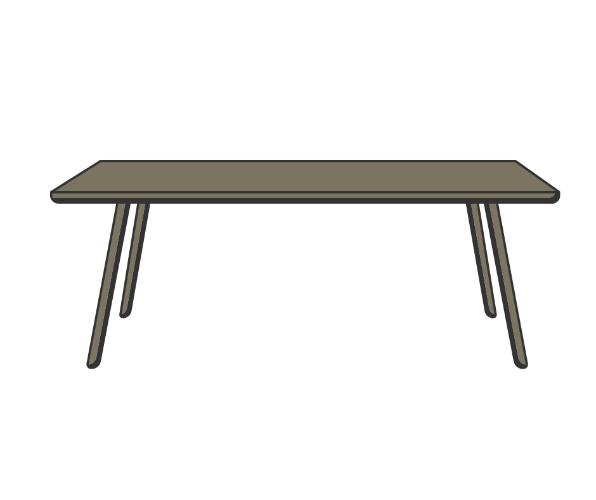 שולחן מלבני ל 8 אורחים