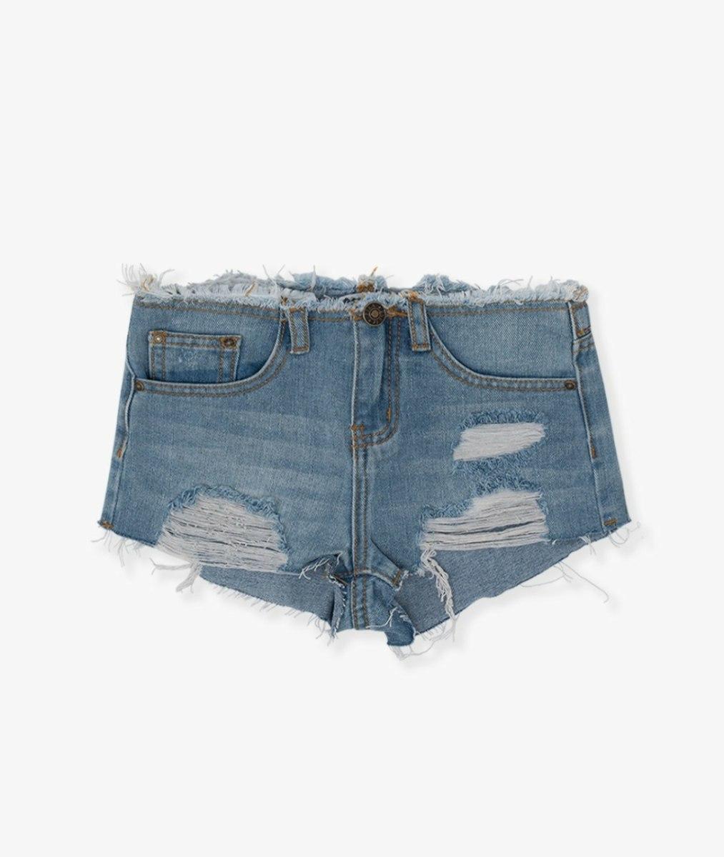 שורט ג'ינס גזור בהיר (4-16) FILA