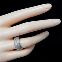 טבעת כסף רחבה משובצת אבני זרקון  RG5769 | תכשיטי כסף | טבעות כסף