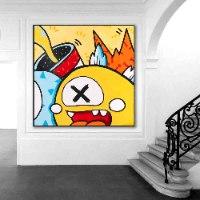 ציור אמנות מודרנית למשרד של האמן כפיר תג'ר