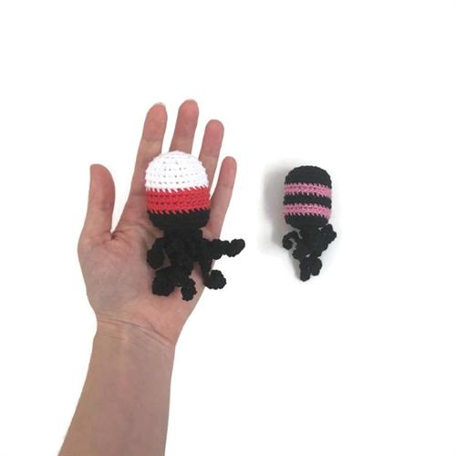 רעשן לתינוק: תמנונים מפוספסים