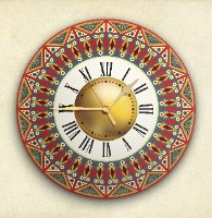 שעון קיר מעוצב, זכוכית אקרילית, דגם 2029  TIVA DESIGN