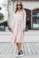 שמלת מלאני שילוב כיס