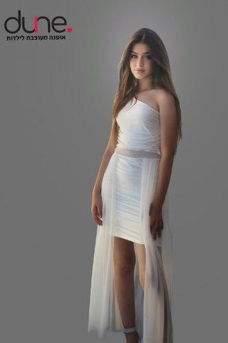 שמלת מקסי כיווצים