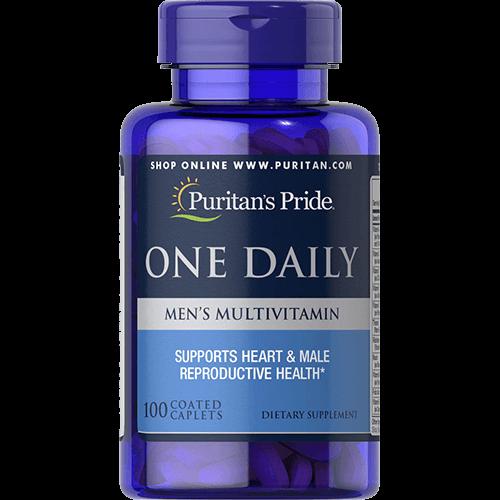 -- מולטי ויטמין יומיומי לגברים -- 100 קפליות