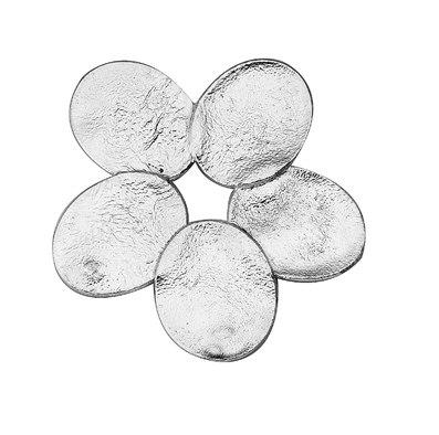 סיכת כסף 925 פרח חמישה עלים רטיקולציה