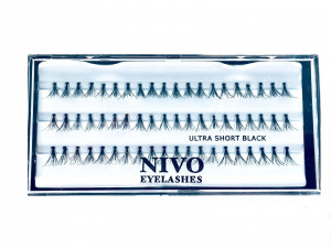 NIVO - ריסים בודדים שורט כפולים - SHORT ULTRA ריסים בודדים NIVO עם קופסא