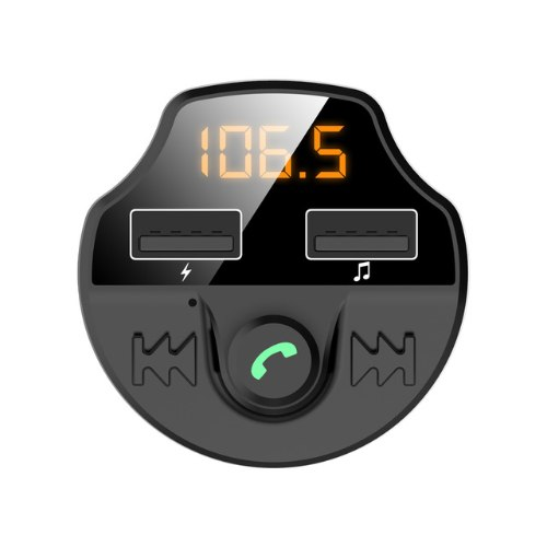 משדר fm מקצועי דגם  BT+ האיכותי המשמש לשמיעת מוזיקה+דיבורית+הטענת ניידים ועוד