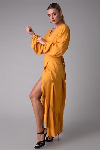 שמלת סן טרופז חרדל