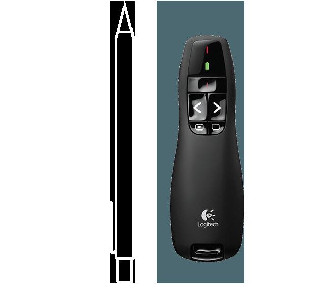 שלט רחוק למצגות Logitech Wireless Presenter R400 לוגיטק+כולל נרתיק+סוללות