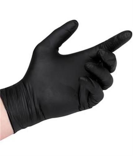 100 יח כפפות גומי שחורות איכותיות ללא אבקה