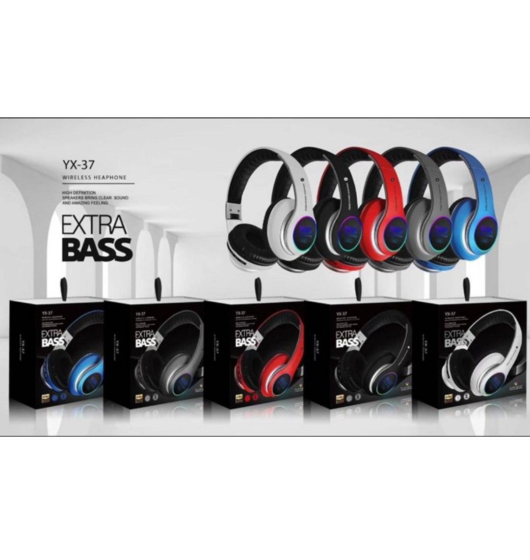אוזניות בלוטוס קשת  SUPER BASS YX-37 RGB