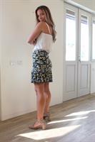 חצאית מלמלה פרחים צהוב