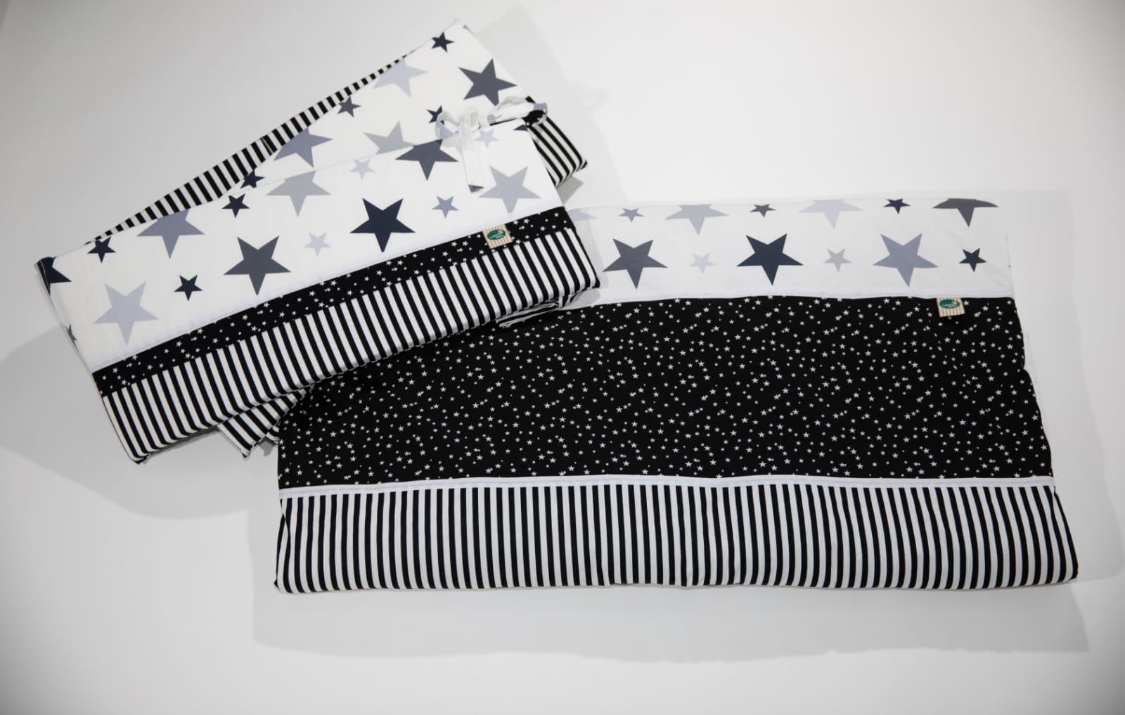 מגן למיטה שחור כוכבים