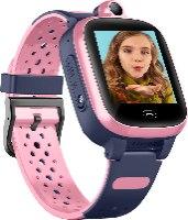 שעון GPS לילדים KIDIWATCH Video - רשת 4G, שיחות וידאו, רצועה צבעונית ועוד - ורוד!