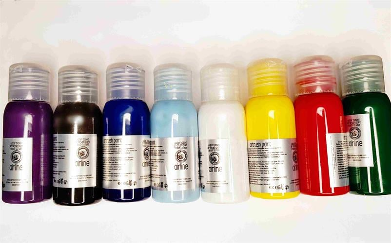 צבעי פנים וגוף נוזלים airbrush color 50 ml