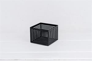 קופסה פתוחה / כלי ממתכת מרובע - שחור M