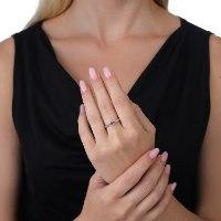 טבעת כסף טהור משובצת אבן חן אמיטסט בחיתוך מרקיזה