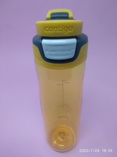 בקבוק שתיה בצבע צהוב Contigo AUTOSEAL® Chug 720ml