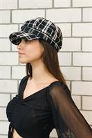 כובע צמר מצחייה BW משבצות