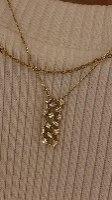 שרשרת קלואה זהב 14 קראט ויהלומים לבנים
