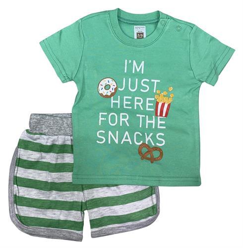חליפת חטיפים ירוק