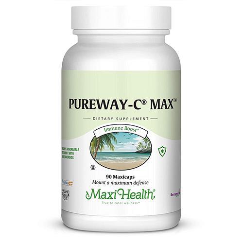--- ויטמין C לא חומצי  עם ביופלבנואידים 500 PureWay-C  -- מכיל 90 טבליות, Maxi Health